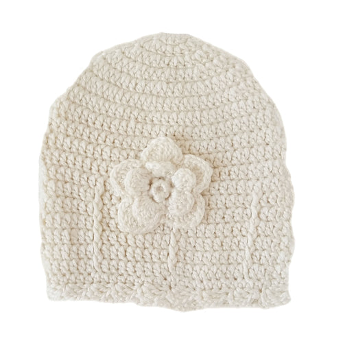 Beanie - 100% Cotton & Bamboo (White)