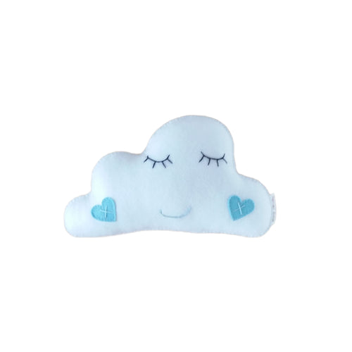 Felt Cot Pillow - White Cloud