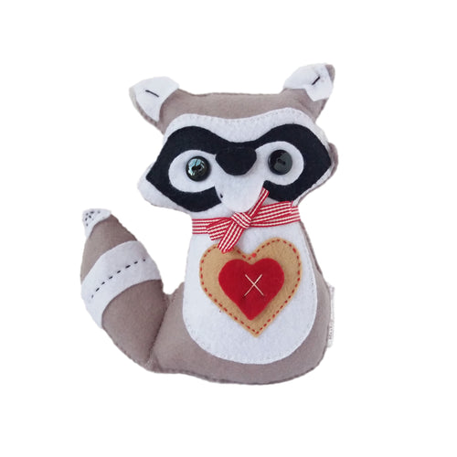 Felt Cot Pillow - Raccoon