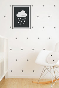 Wall Art - Grey Raindrop Vinyl