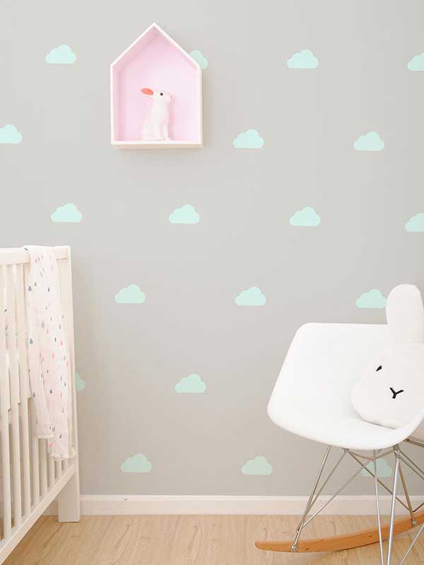Wall Art - Mint Cloud Vinyl