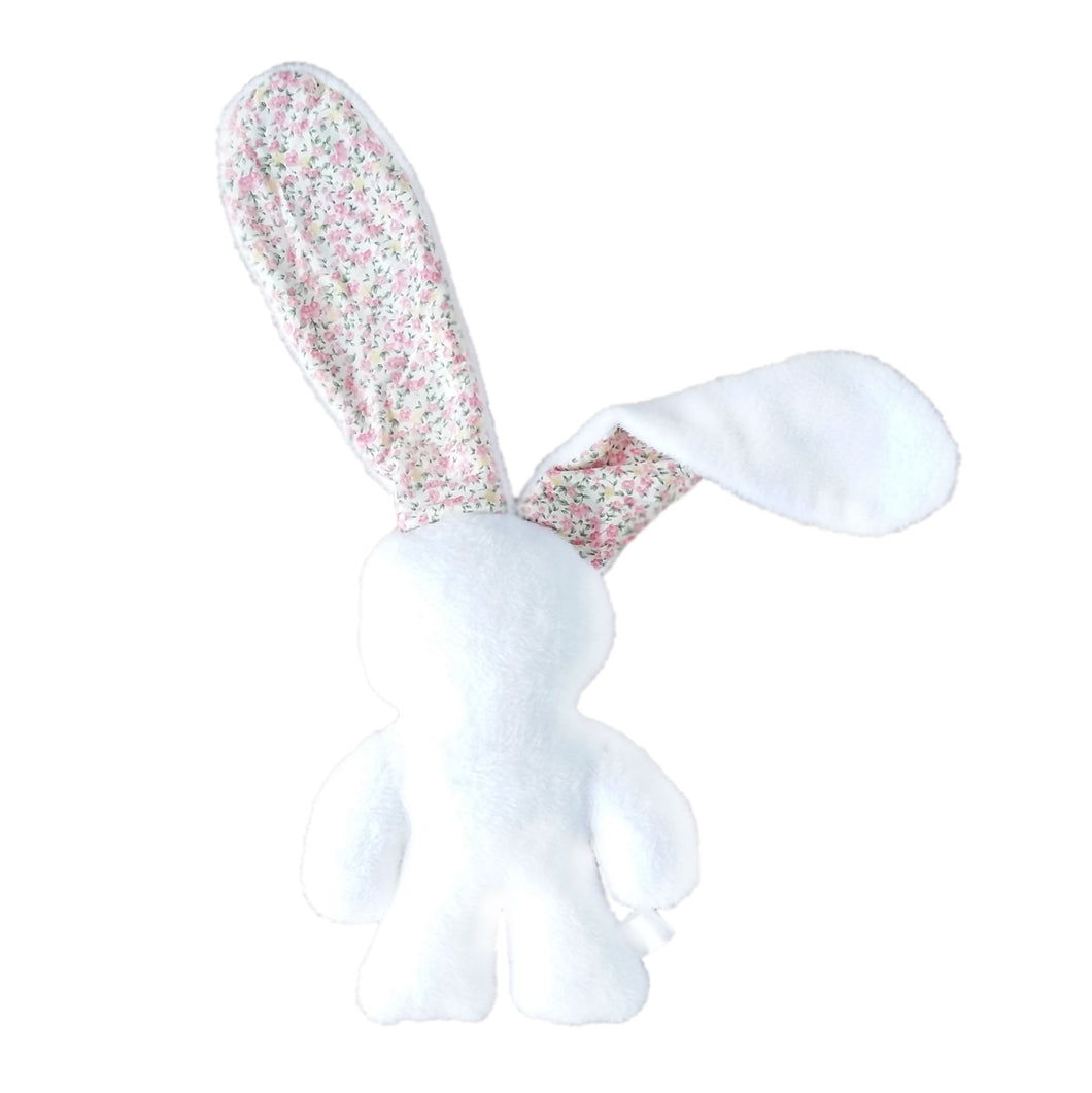 Soothing Snuggle Bunny - White with Floral Ears