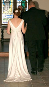 David's Bridal Charmeuse Simple Elegance - Size 8 Wedding Dress