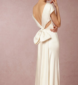 Nicole Miller 100% Silk Charmeuse Simply Elegant Wedding Dress with Tags