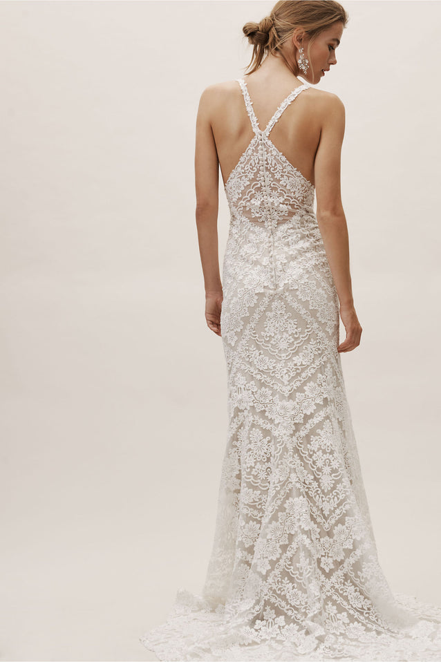 BHLDN by Eddie K Couture Modern Wedding Dress - Never Worn with Tags