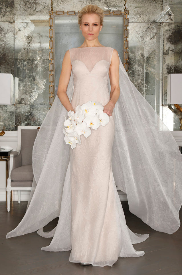 Silk Fit and Flare Wedding Dress