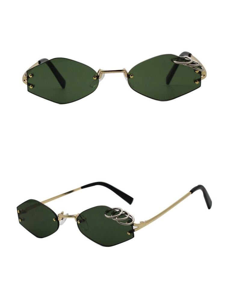 Sunglasses: rimless sunglasses with ring detail DON JUAN
