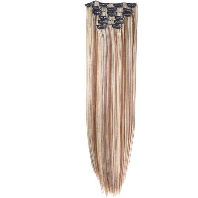 Hair extensions: long straight synthetic hair clip-in extensions DON JUAN