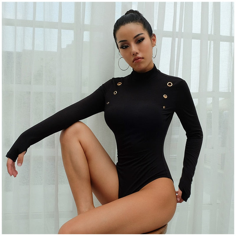 : body with ring detail in black DON JUAN