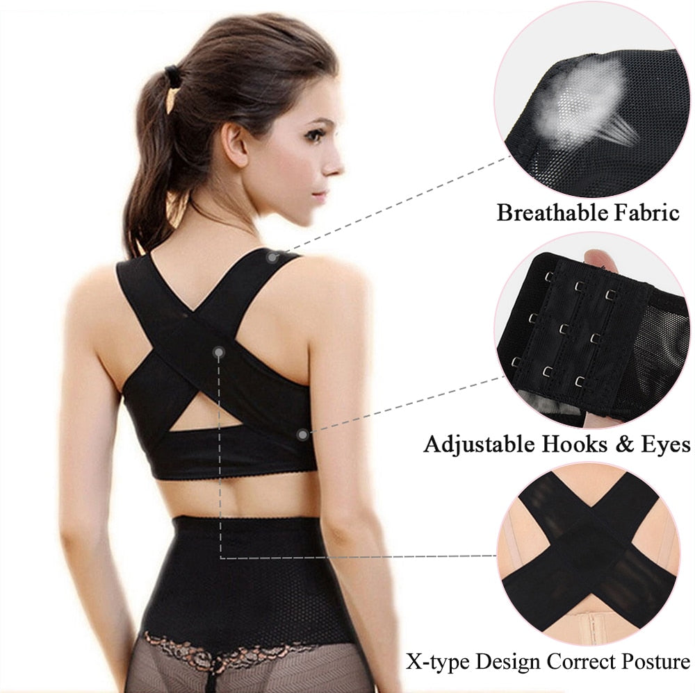 Supports & Braces: chest brace up for women posture corrector DON JUAN
