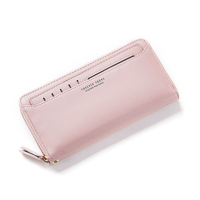 W Bags:zip around ladies' wallet with cardholder:VENERA CLUB