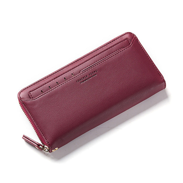 zip around ladies' wallet with cardholder