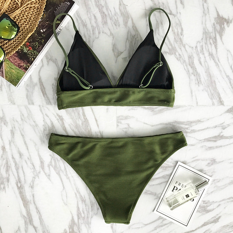 triangle bikini set in green-Bikini-VENERA CLUB