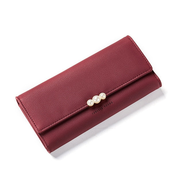W Bags:ladies' wallet with pearl detail:VENERA CLUB