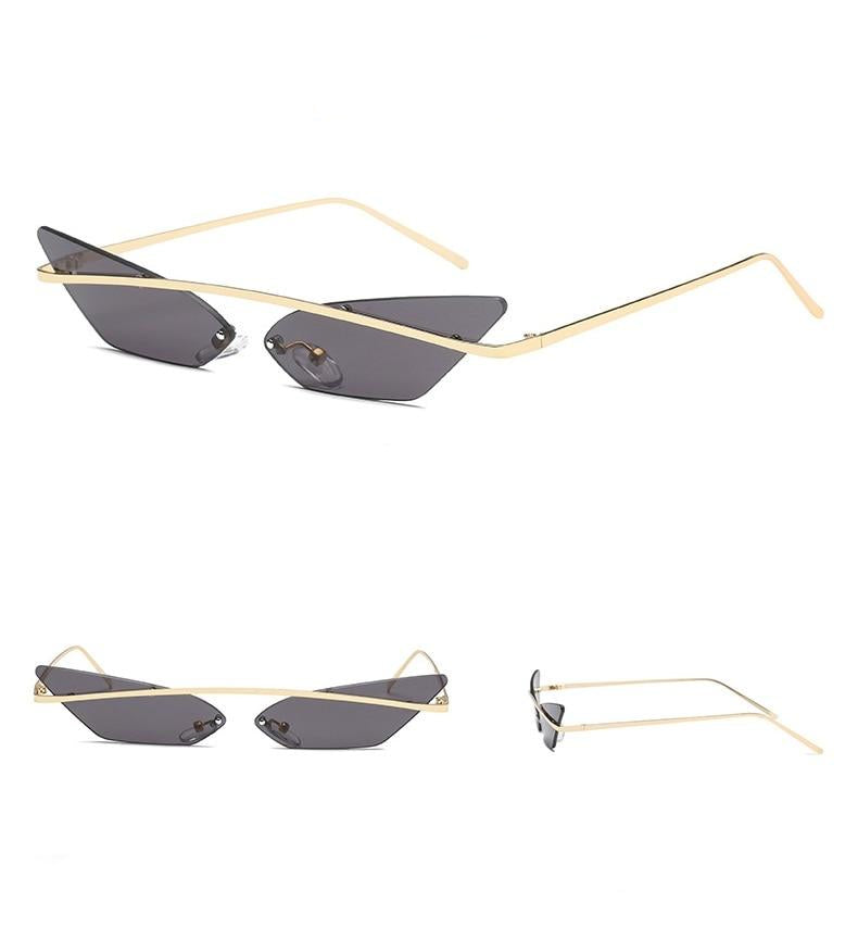 cat eye sunglasses with brow bar