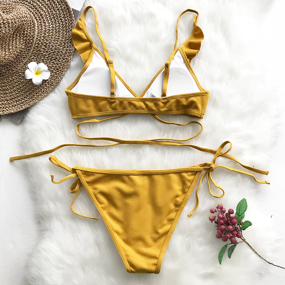 bikini set with frill detail-Bikini-VENERA CLUB