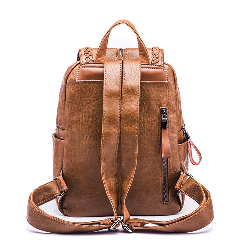 W Bags: solid backpack with zip detail DON JUAN