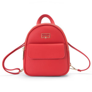 mini backpack with front pocket in 4 colors