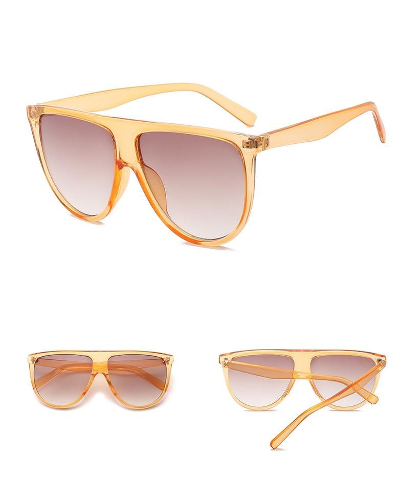 flat top oversize sunglasses