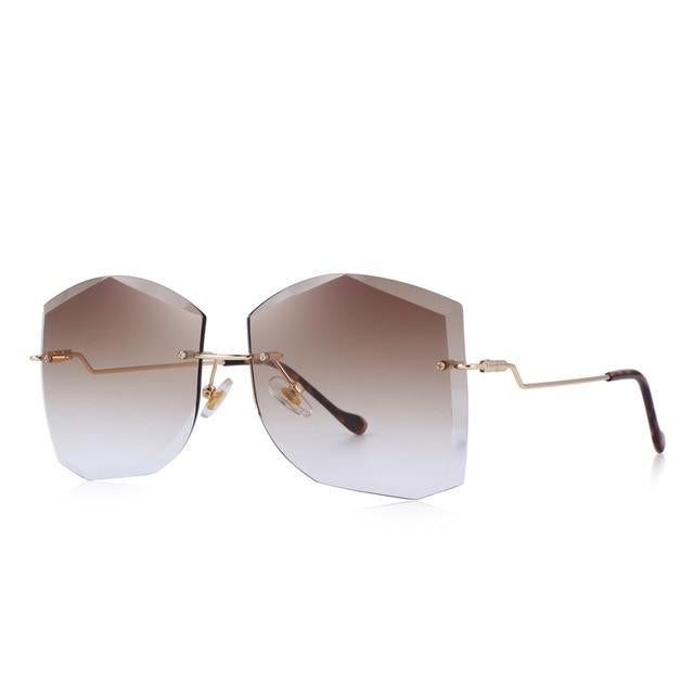 : oversize rimless sunglasses DON JUAN