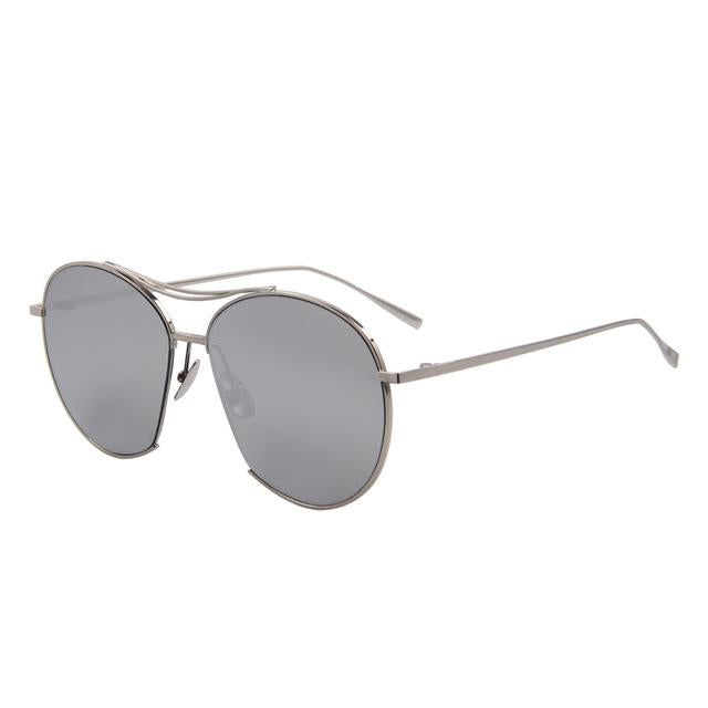 aviator sunglasses with brow bar detail