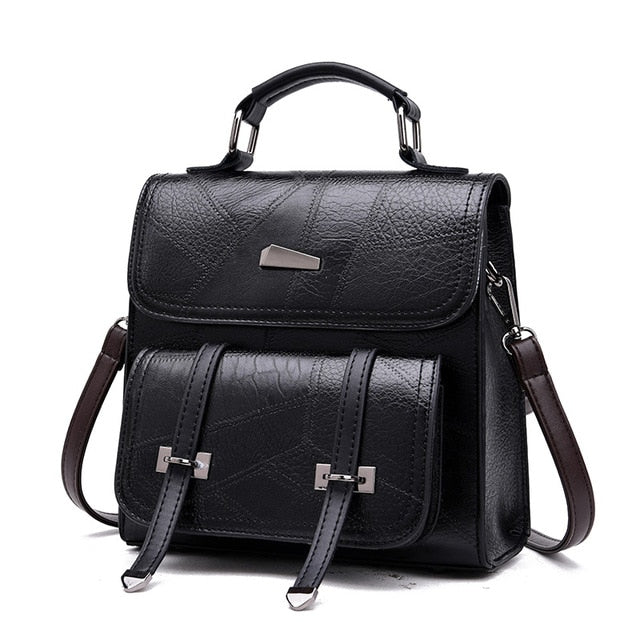 W Bags: square backpack with double straps pocket DON JUAN