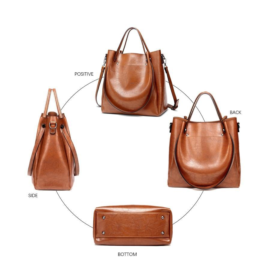 W Bags: solid shoulder bag DON JUAN