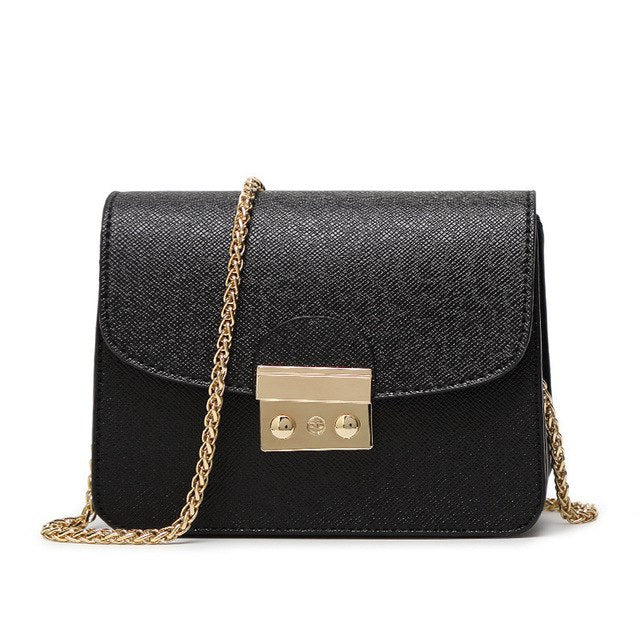 mini bag with gold chain