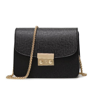 mini bag with gold chain in 10 colors