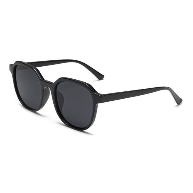 retro round sunglasses in 5 colors - black - Sunglasses