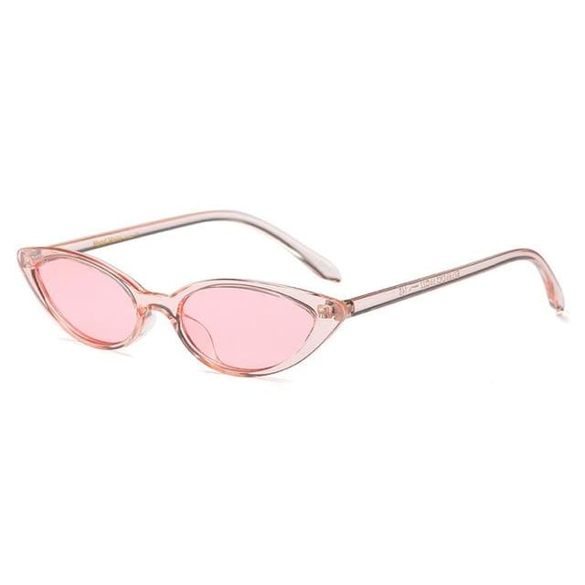 slim cat eye sunglasses in 7 colors - pink - Sunglasses