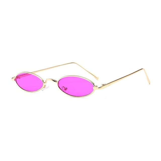 slim oval sunglasses in 12 colors - purple - Sunglasses
