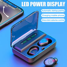 Load image into Gallery viewer, Bluetooth Earphone LED Display Wireless Headphone 9D Stereo  Earphones With 1200mAh Power Bank