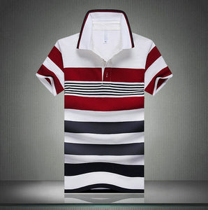 Men Classic Striped Polo Shirt Cotton Short Sleeve NEW Arrived 2016
