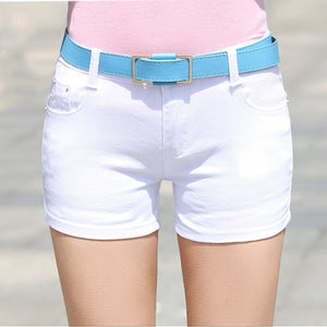2018 Summer Denim Shorts cotton Slim Fit ladyies elastic waist sexy female