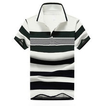 Load image into Gallery viewer, Men Classic Striped Polo Shirt Cotton Short Sleeve NEW Arrived 2016