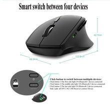 Load image into Gallery viewer, Rapoo MT550/MT750 Multi-mode Wireless Mouse Bluetooth 3.0/4.0 And 2.4G Computer Gaming Mouse