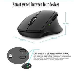Rapoo MT550/MT750 Multi-mode Wireless Mouse Bluetooth 3.0/4.0 And 2.4G Computer Gaming Mouse