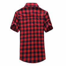 Load image into Gallery viewer, Red And Black Plaid Shirt Men Shirts 2019 New Summer