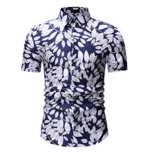 Load image into Gallery viewer, M-3XL New Summer Fashion Mens Shirt Slim Fit Short Sleeve Floral Shirt