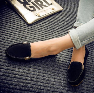 Plus Size 35-43 Women Flats shoes 2019 Loafers Candy Color Slip on Flat Shoes Ballet