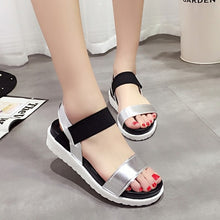 Load image into Gallery viewer, Summer sandals women flat Shoes peep-toe sandalias Roman