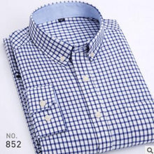 Load image into Gallery viewer, Oxford Men's Casual Long Sleeved Shirt Plaid Striped 2019 Spring