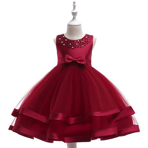 Retail Appliques Princess Girls Birthday Evening Party Gown Dress