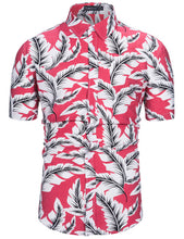 Load image into Gallery viewer, 100% Cotton Mens Hawaiian Shirts Male Casual Camisa Masculina