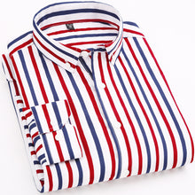 Load image into Gallery viewer, Men Long Sleeved Shirts Slim Fit Style Design Business Casual Dress Shirt
