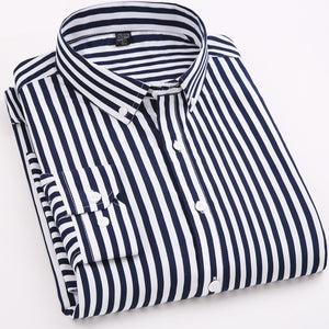 Men Long Sleeved Shirts Slim Fit Style Design Business Casual Dress Shirt