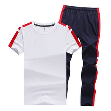 Load image into Gallery viewer, Men's Sets T Shirts+Long Pants Two Pieces Sets Casual