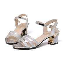 Load image into Gallery viewer, 2019 Fashion Open Toe Woman Summer Sandals Shoes Silver Gold Pink