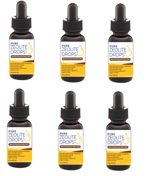 Zeolite Drops Enhanced with DHQ (Extra-Strength) (6 Bottles for $90) Only $15.00 ea. ..... (FREE Shipping Worldwide)